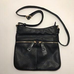 NWOT Black Crossbody Bag Purse Leather Shoulder